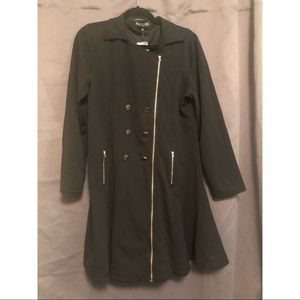 Haute Fox (Forever 21+) Stretchy Flared Coat